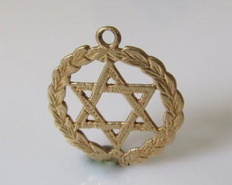 9ct Gold  Star of David Pendant or Charm
