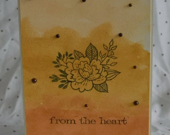 Handmade card, watercolour card, card, card for a friend, love card, card for a girl, from the heart card, greeting card