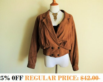 SALE!! 25% OFF Adventure Bound Brown Leather Bomber Jacket