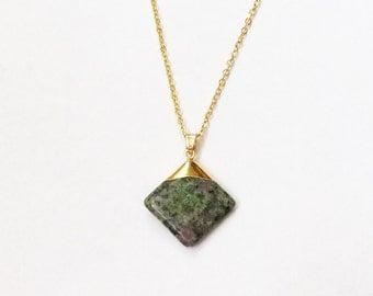 Unikite Natural Stone Pendant Necklace