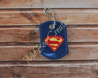 Superguy zipper pull