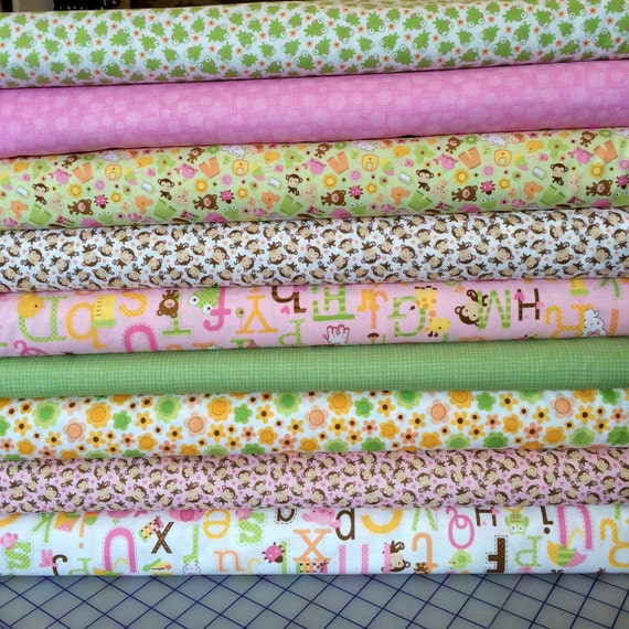 Riley blake sweet baby girl fabric bundle by for Baby girl fabric