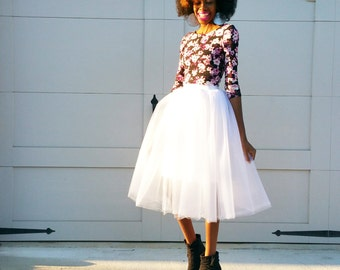 Classic Tulle Midi Skirt (Several Colors)