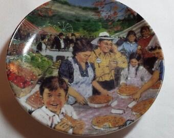 "Avon decorator plate 'Ontario's Bounty', 4"", 1987"
