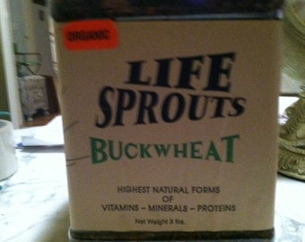 Buckwheat sprout seeds organic -make your own sprouts or use to grow plants