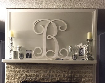Monogram Wall Art large wooden monogram wall hanging painted initials photo prop