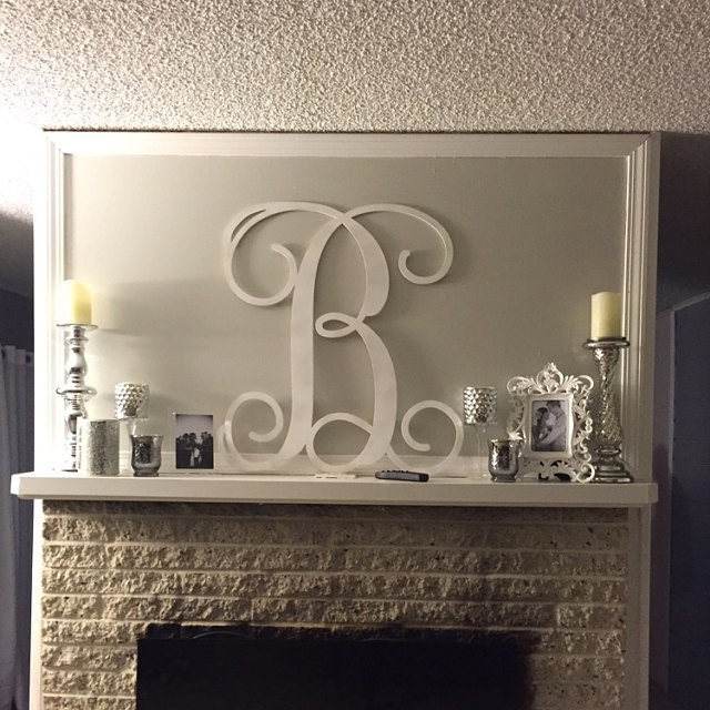 painted wooden monogram letters wall hanging home decor