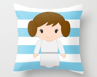 Princess Leia Baby, Star Wars Toddler Bed, Princess Leia Newborn, Princess Leia Toddler, Star Wars Decorations, Star Wars Pillow Cover 18x18