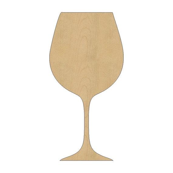 wine glass cutout shape laser cut unfinished wood shapes
