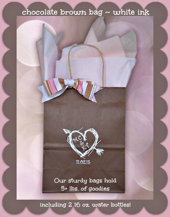 Personalized Wedding Guest Gift Bags Welcome to our Wedding Bags Hotel ...