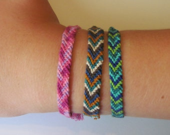 Chevron Embroidery Floss Bracelet