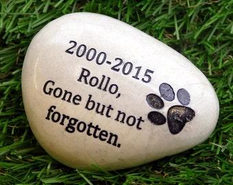 Engraved Pet Memorial Stone