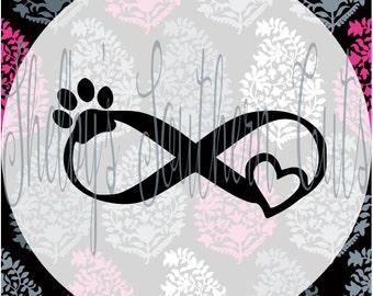 Infinity Animal Love SVG DXF EPS digital files