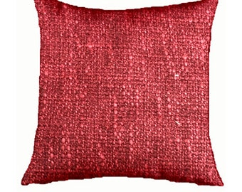 "Decorative Pillow Cover 20"" X 20""  with Zipper Red"