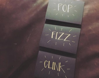 Bar Place Cards