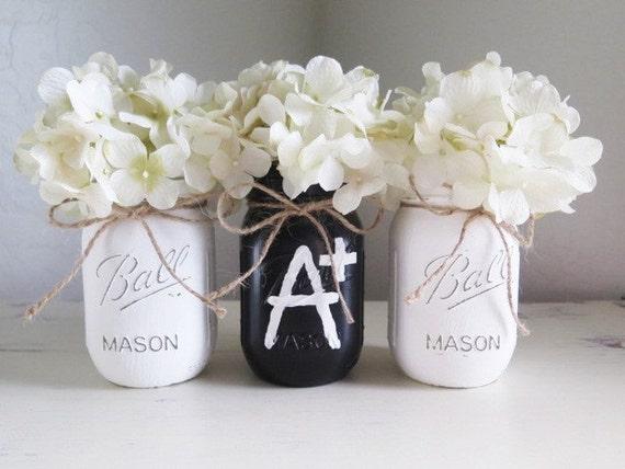 to school mason jar for teacher gift mason jar decor black mason jar