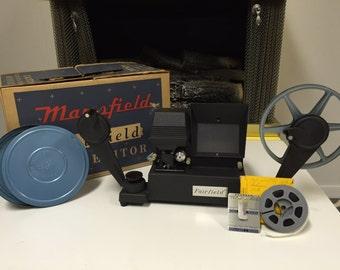 Mansfield Fairfield 8 mm Movie Action Editor in Original Box