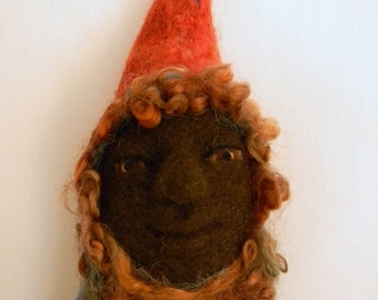 Hickory Root Gnome, Waldorf Inspired Norwegian Gnome, Natural Eco Toy
