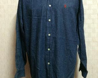 Vintage POLO Ralph Lauren Denim Shirt
