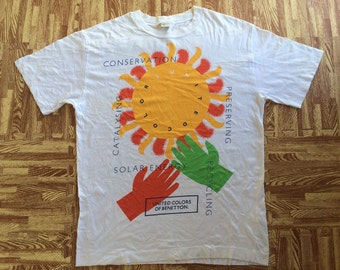 vintage united colors of Benetton t shirt made in Italy medium