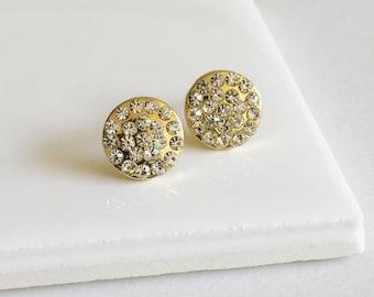 Minimal Circle CZ Stud Earrings