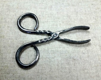 Smoking pliers, pliers for incense charcoal pliers forged iron