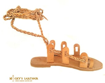 GLADIATOR SANDALS 100%  Full Grain Leather Handmade