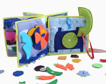 Soft book - Toddler's Quiet Book - activity book - Felt toys - Educational Toys - Montessori toys - Travel toys - children's books - eco