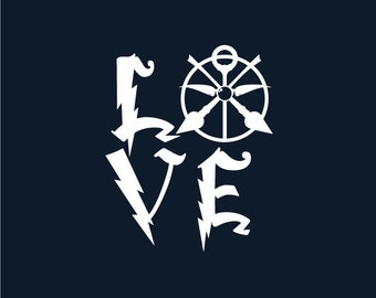 LOVE Quidditch decal