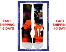 Custom Nike Elite Socks Denver Broncos Peyton Manning