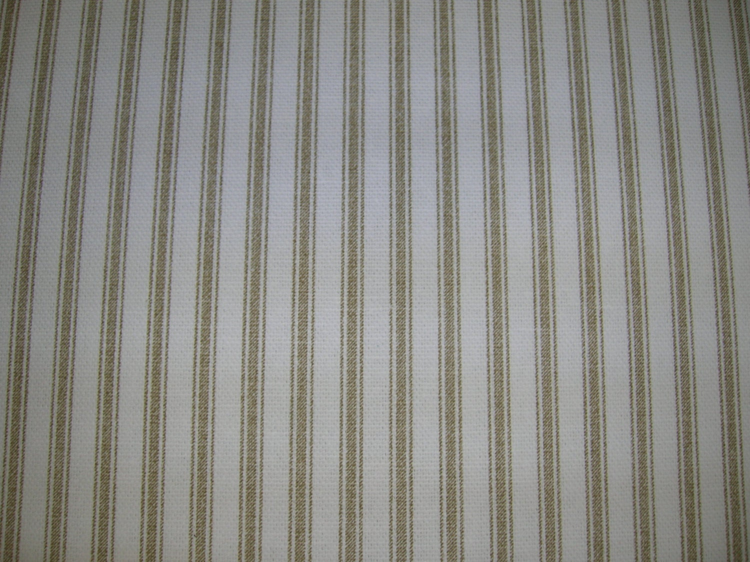 Tan Stripe Shower Curtain Made In USA