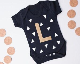 Personalised Initial Babygrow - Monogram Onesie - Newborn Babygrow - Coming Home Outfit - Baby Shower Gift - Cute Baby Onesie -Baby Bodysuit
