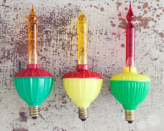 RESERVED TO LIZ - Set of 3 Vintage Christmas Bubble Bubbling Lights