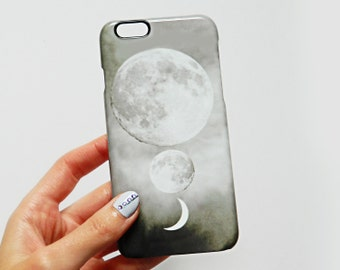 Luna Trio phone case - Moon, stars, eclipse print - For iPhone 6/6s Plus, iPhone 7 Plus, iPhone 7, iPhone 6s, Samsung Galaxy S7, Samsung S6