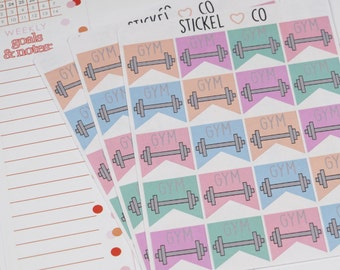20 Gym Stickers - Planner Stickers, Perfect for Erin Condren and other Life Planners