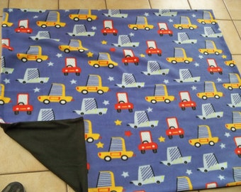 Cute & Funny Multi Color Auto Cars Car All Fleece Child's Or Baby Throw Blanket