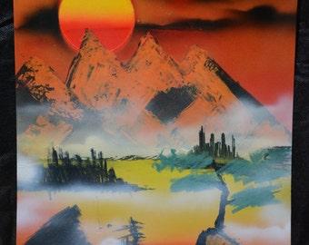 11x14 Spray Paint Art - Vintage Menagerie
