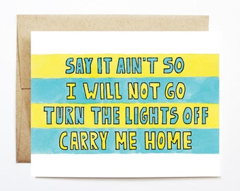 Thinking Of You Card - Say It Aint So, Cute Greeting Card, Thinking Of You Card, Friendship Card, Just Because Card, Blink 182