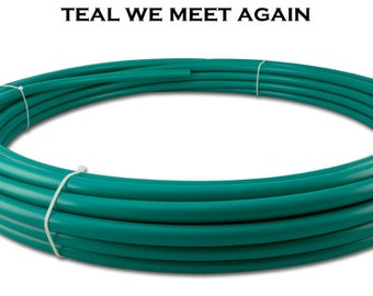 "3/4"" Teal We Meet Again Polypro Hoop"