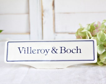 Villeroy & Boch Advertising Sign: Villeroy Boch Store Plaque, Villeroy Boch China Display, Villeroy Boch Store Display