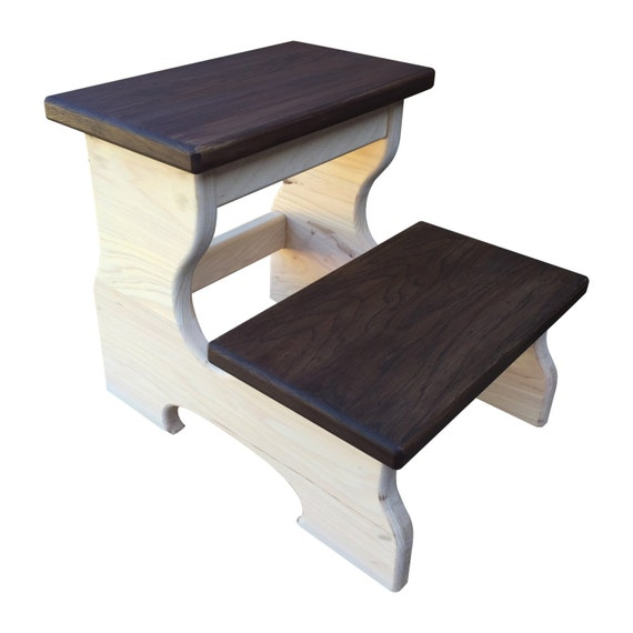 Wood Step Stool Foot Stool Kids Step Stool By Candlewoodfurniture