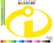 Incredibles Superhero printable silhouette clipart, digital download scrapbooking stencil