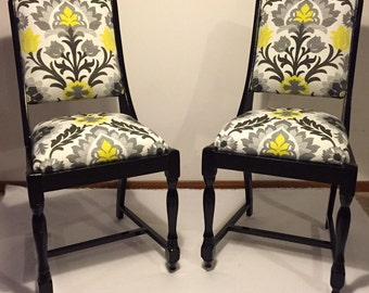 SOLD-Vintage custom upholstered chairs accent chair furniture