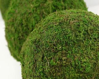 "Moss Balls 4"" for Woodland Weddings Garden Decor Table Setting Decor"
