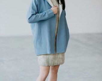 Linen Jacket With Hood Motumo - 15SV2