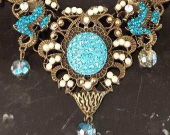 Turquoise Seahorse Necklace