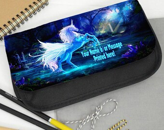 Personalised Unicorn Magical Fantasy Pencil Case Game Carrier Travel Bag ST709