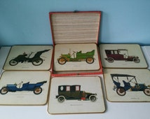Win el ware original case with 6 oldtimer placemats / coasters