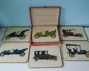 Win el ware original case with 6 oldtimer placemats / coasters