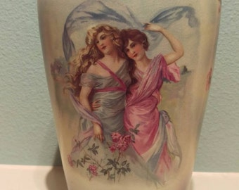 Semi virtuous porcelain vase K.T. & K. Co